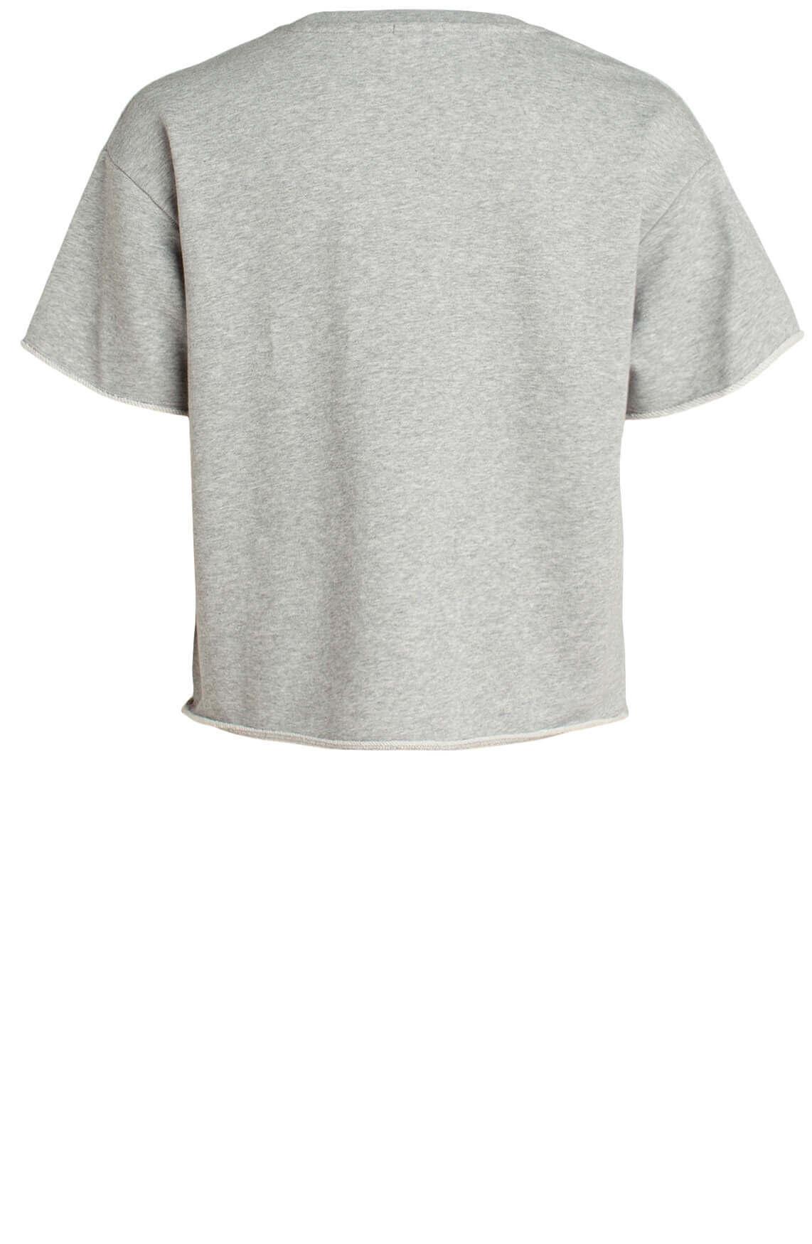 Drykorn Dames Lunie korte sweater Grijs