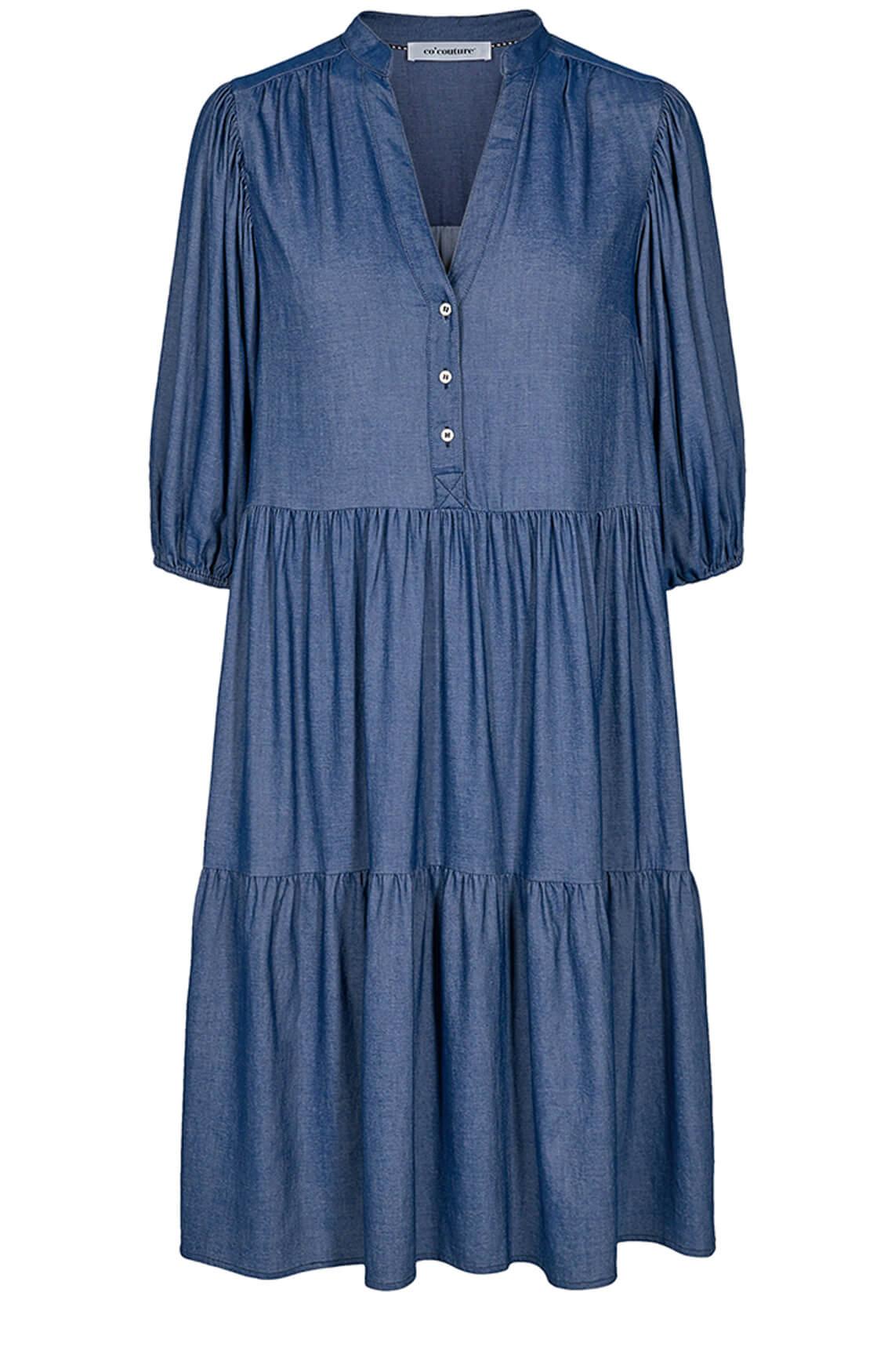 Co Couture Dames Cream denim jurk Blauw