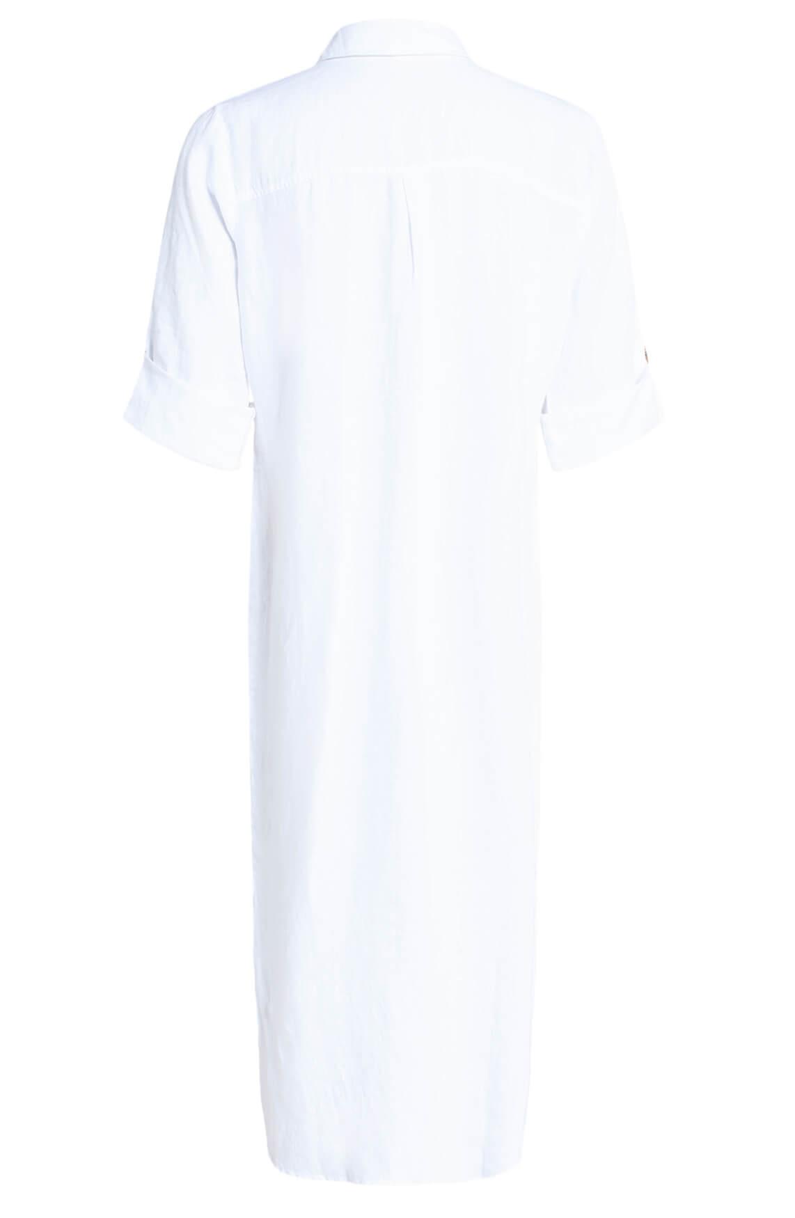 Anna Dames Linnen jurk wit