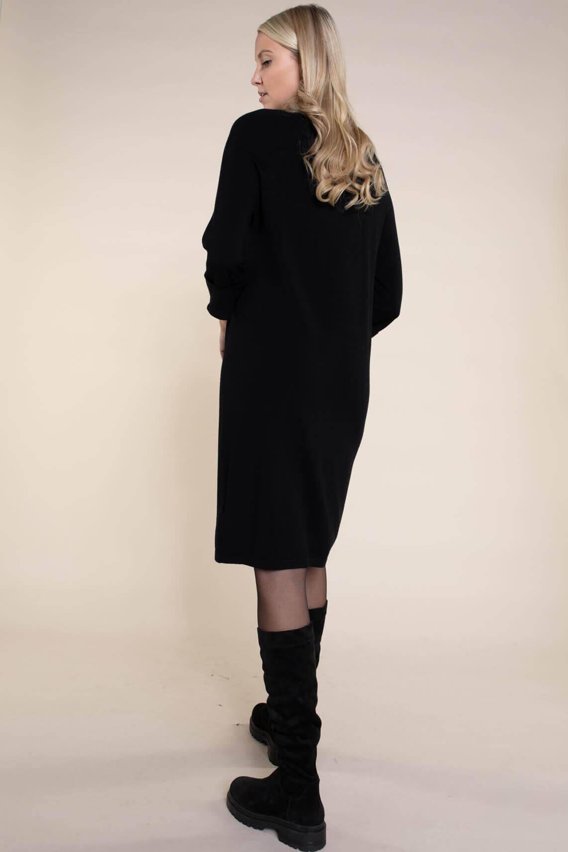 Anna Dames Gebreide jurk zwart