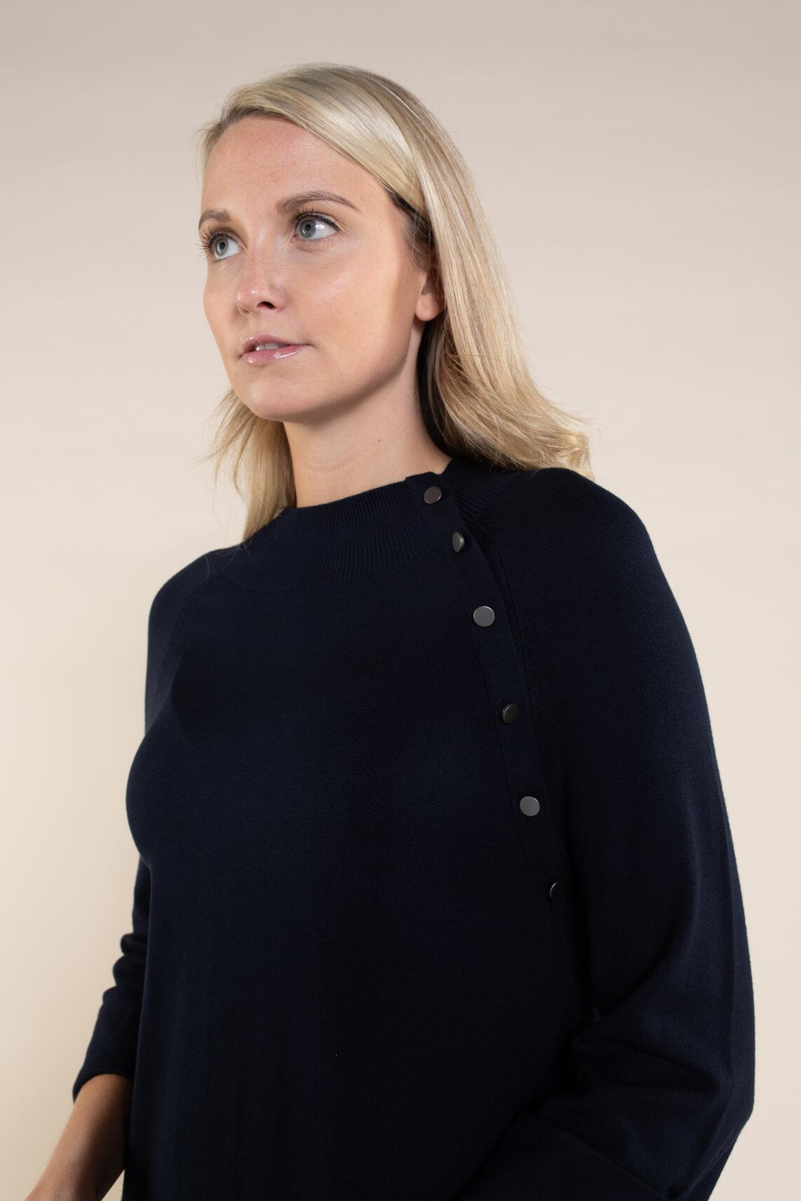 Anna Dames Gebreide jurk Blauw