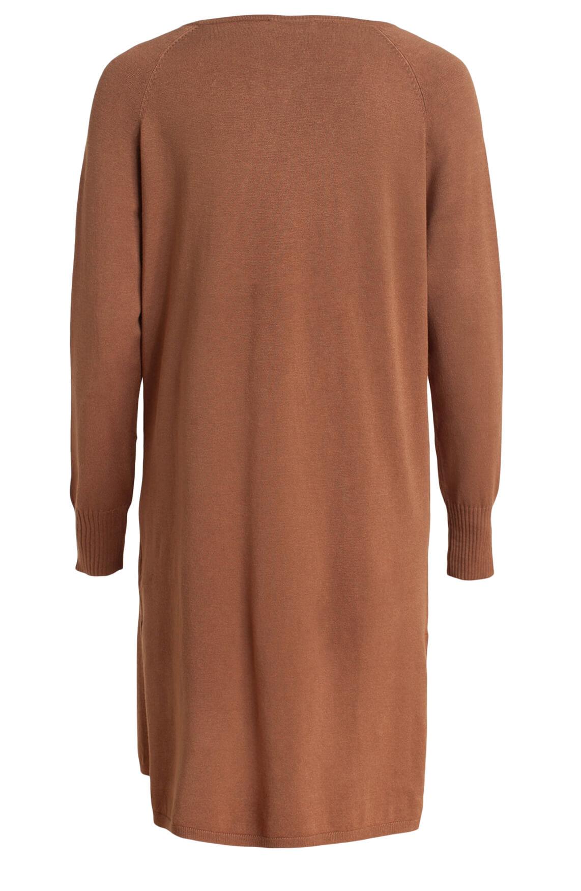 Anna Dames Gebreide jurk Bruin