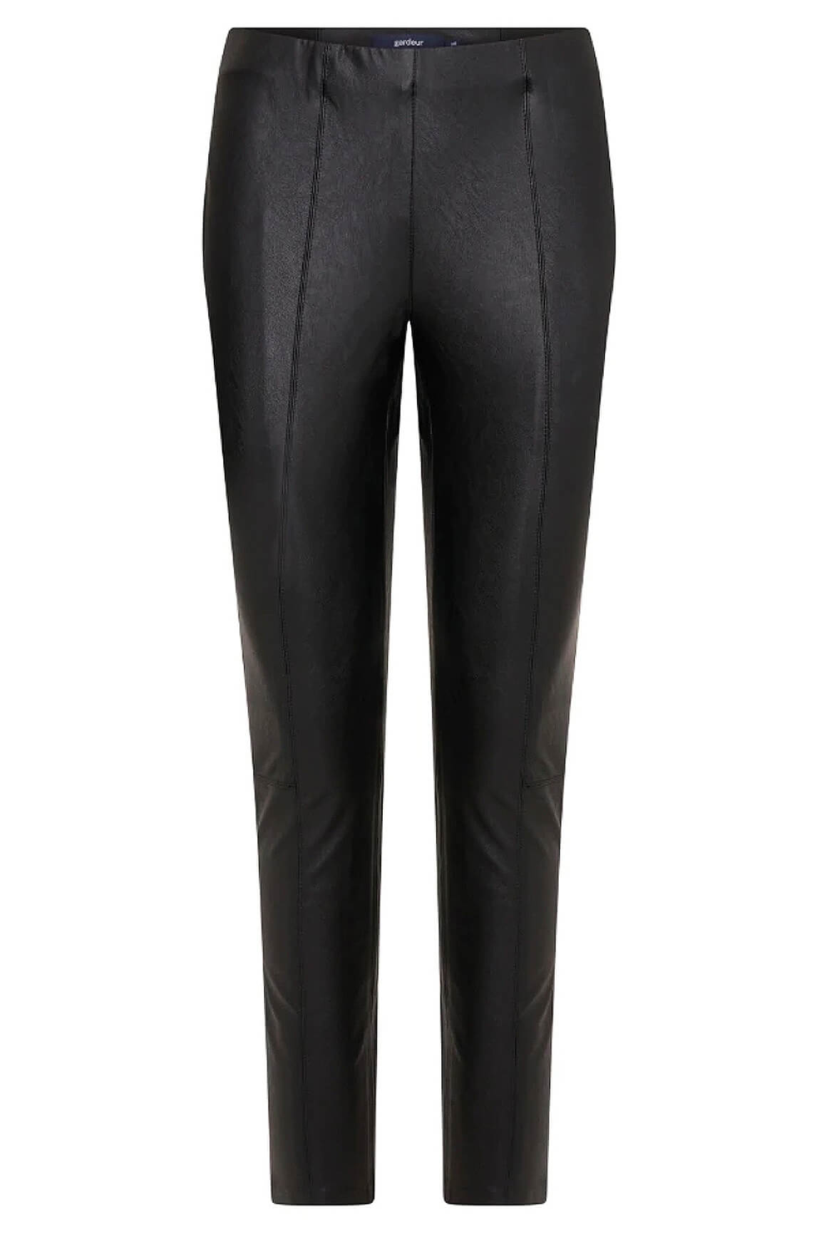 Gardeur Dames Fake leather broek Zwart
