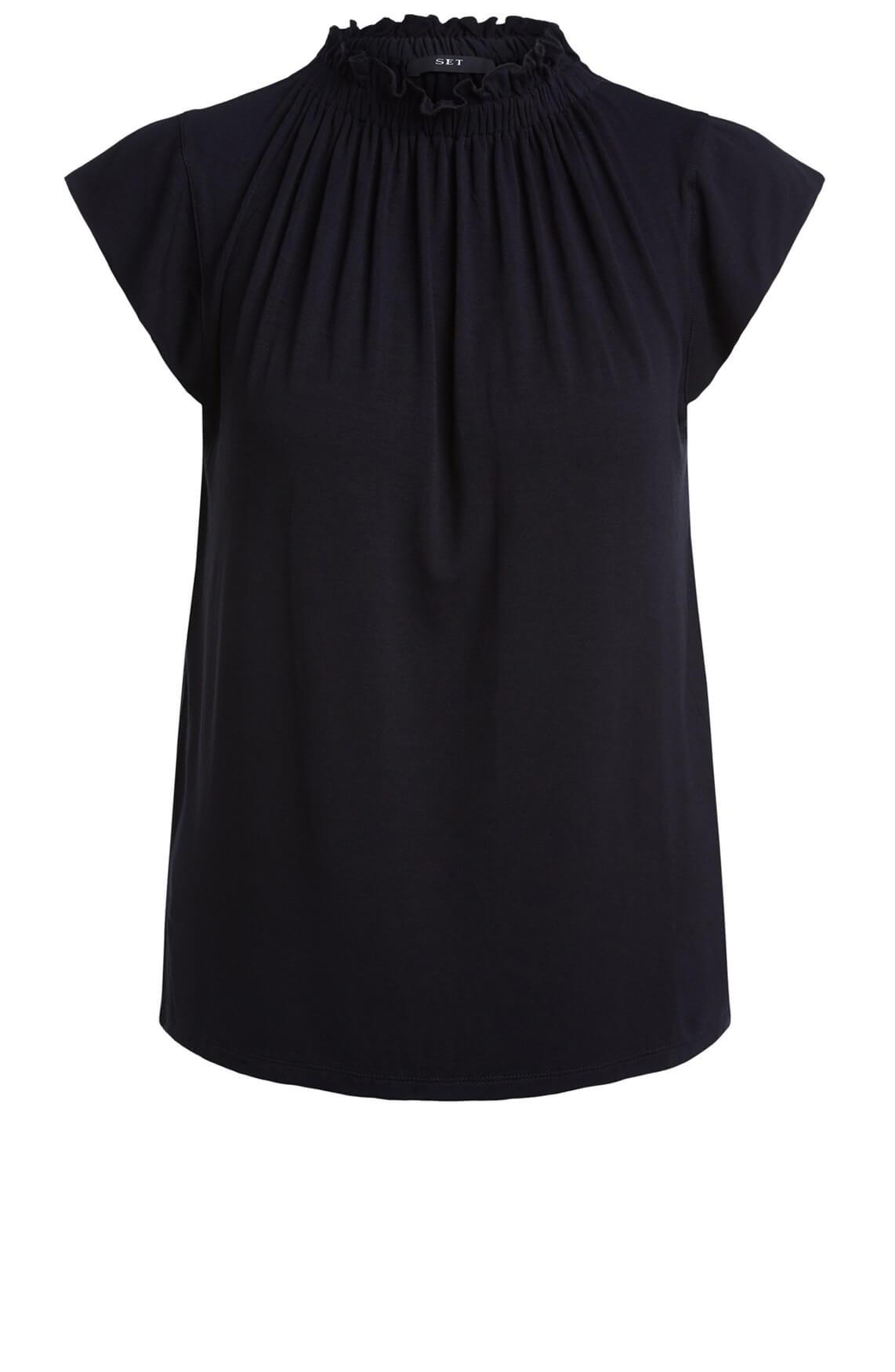 Set Dames Mouwloze blouse zwart