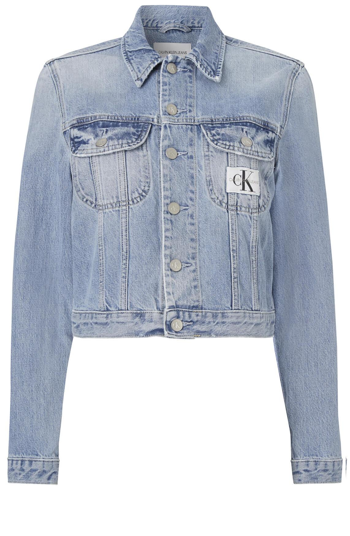 Calvin Klein Dames Denim vintage jack Blauw