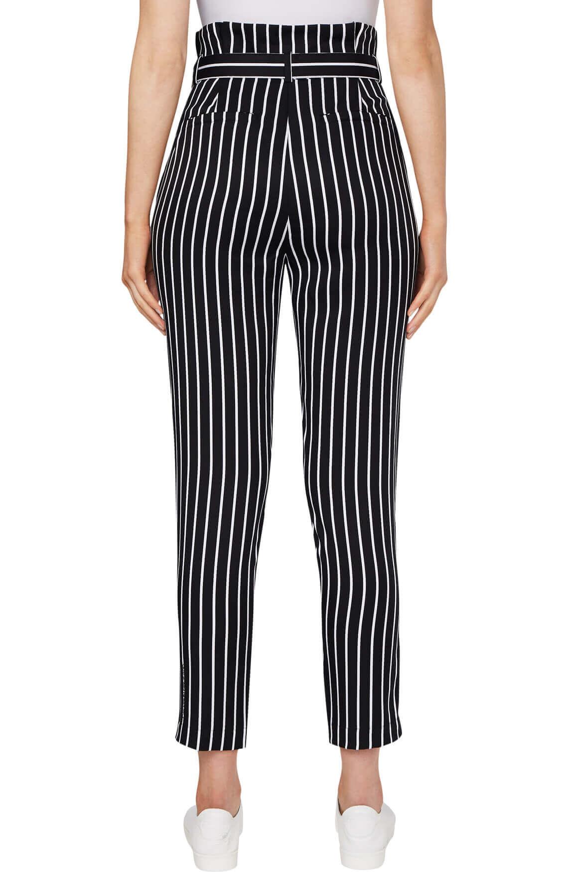 Calvin Klein Dames Gestreepte broek zwart