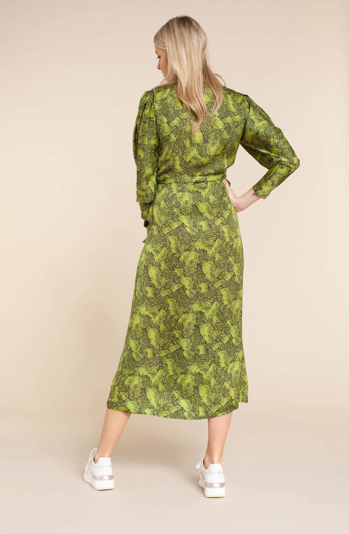 Copenhagen Muse Dames Jurk met overslag groen