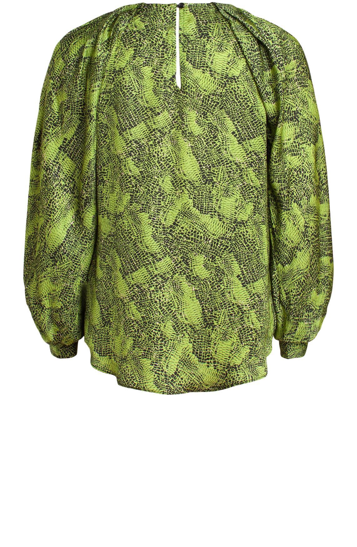 Copenhagen Muse Dames Cupro blouse groen