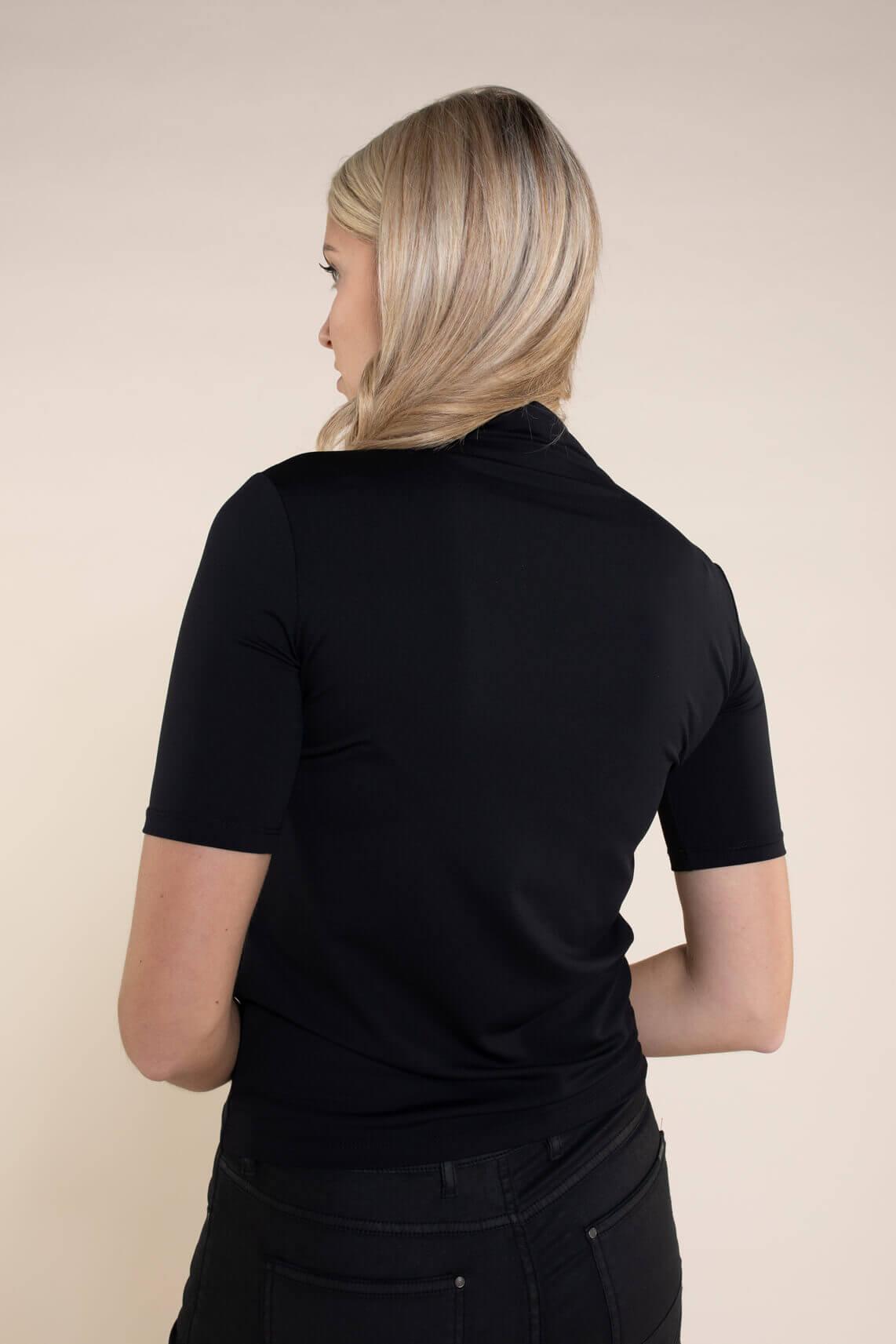 Anna Dames Stretch shirt zwart