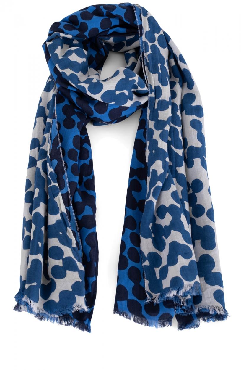 Anna Dames Stip shawl Blauw