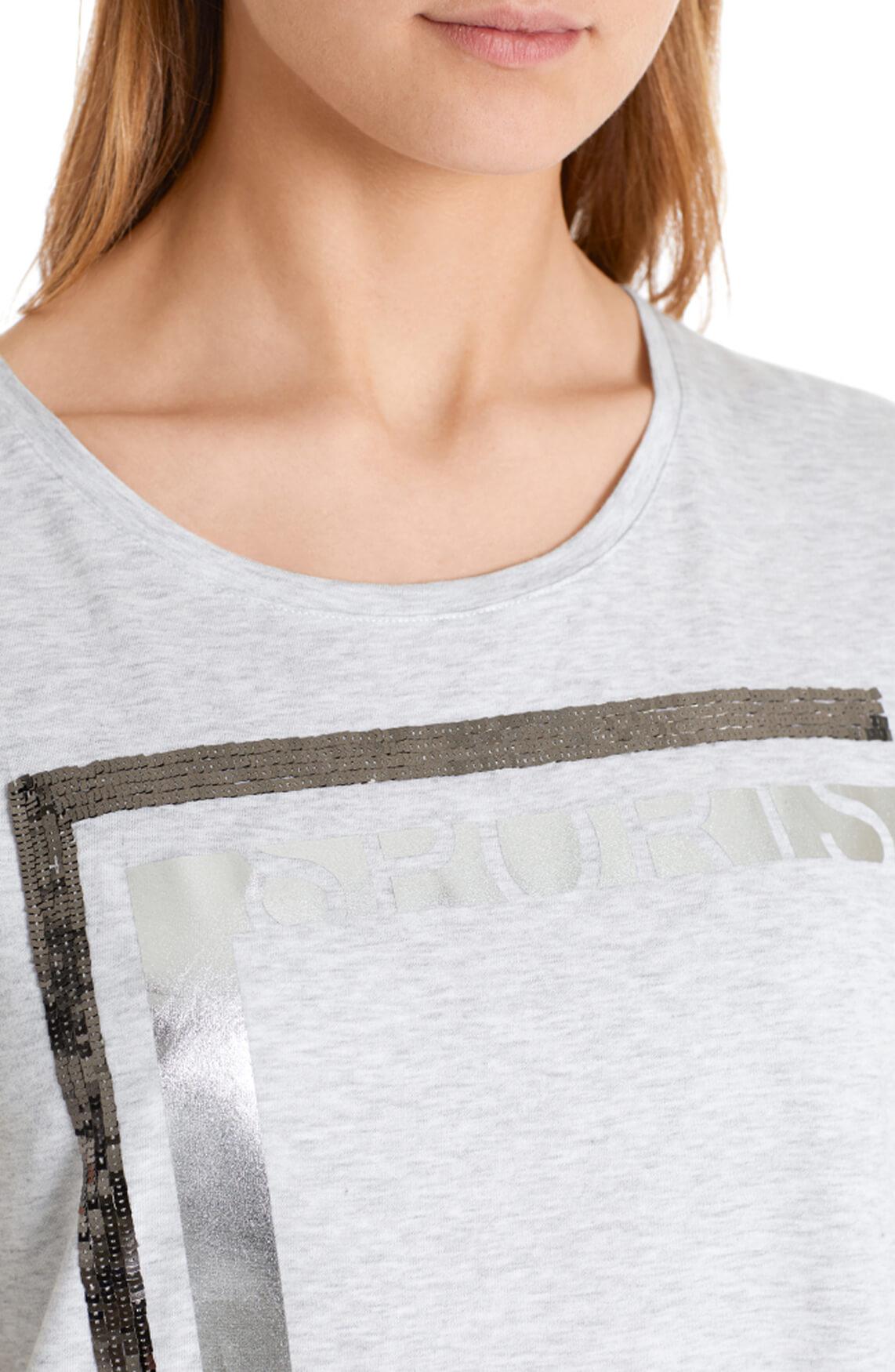 Marccain Sports Dames Shirt met pailletten Grijs