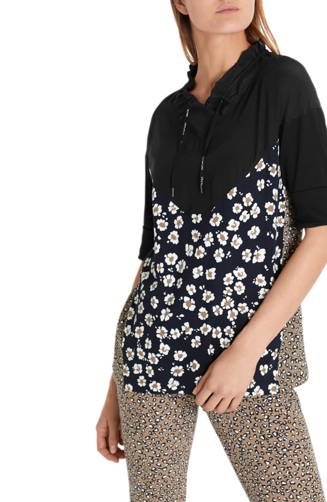 Marccain Sports Dames Shirt met dessin zwart