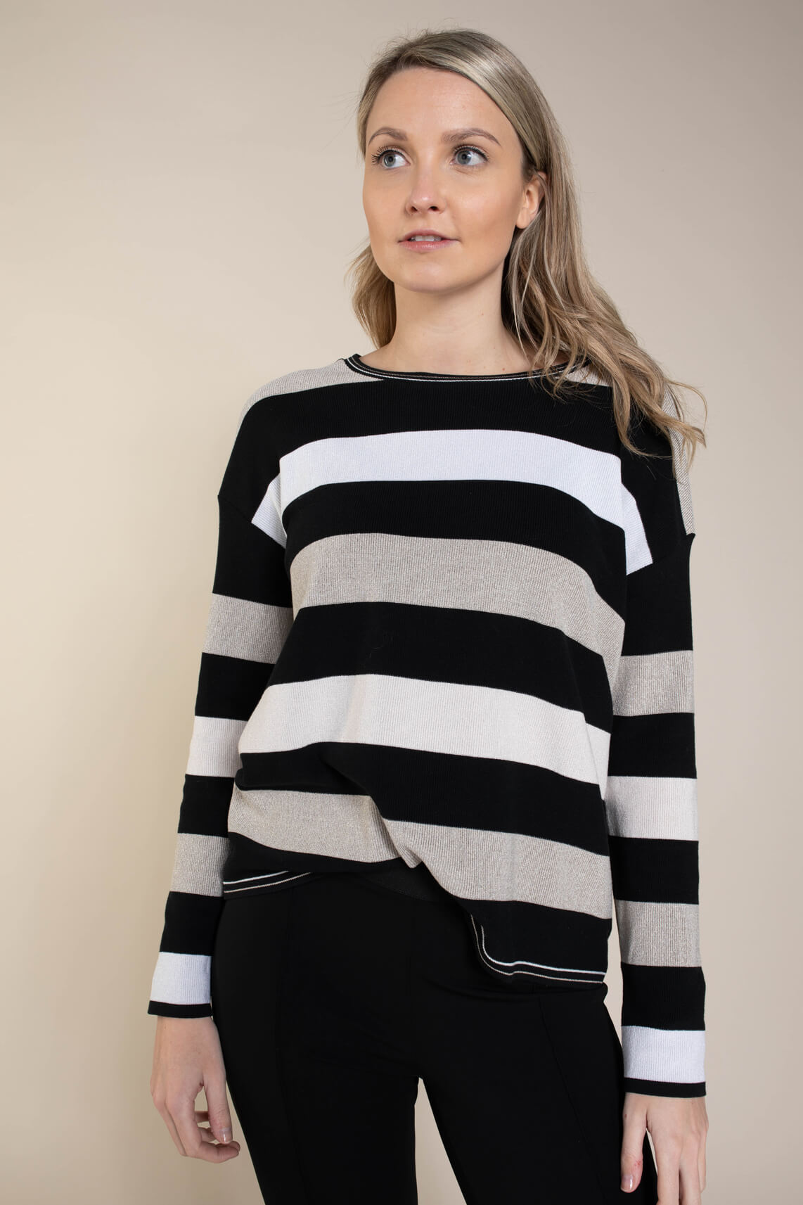 Marccain Sports Dames Colorblock pullover zwart