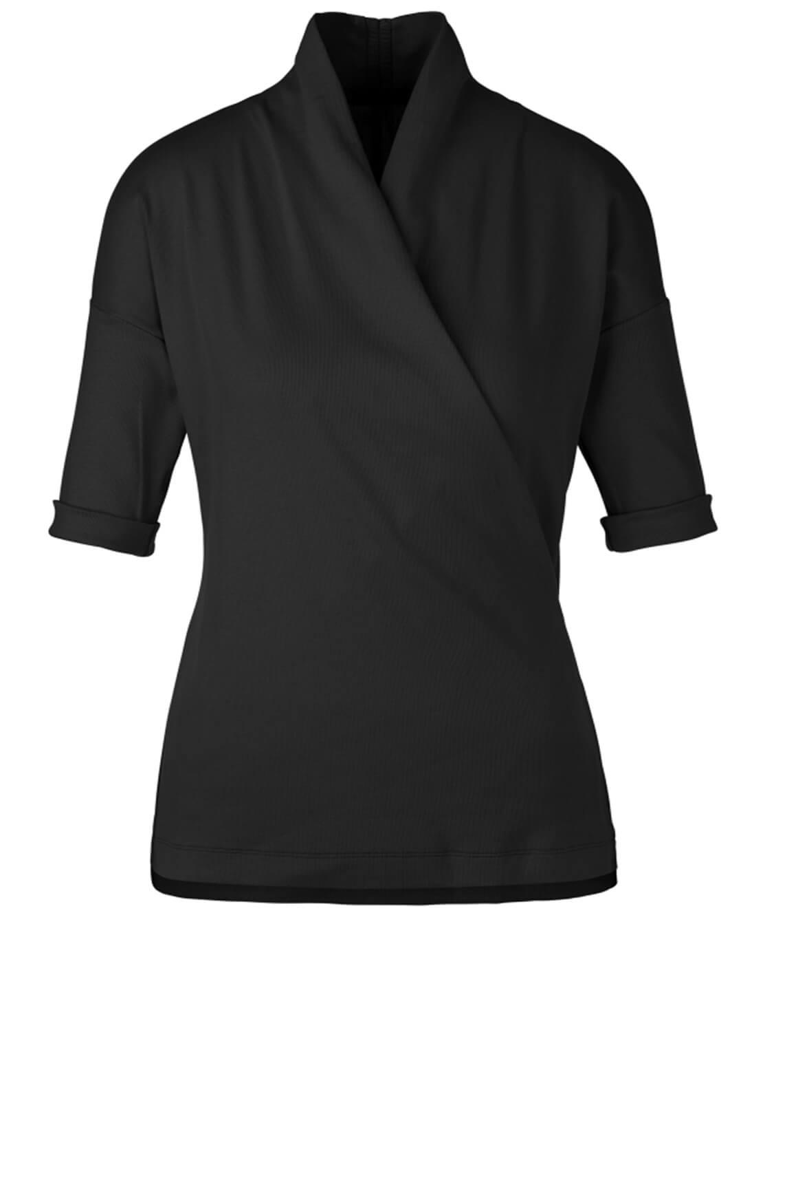 Marccain Sports Dames Shirt met overslag zwart