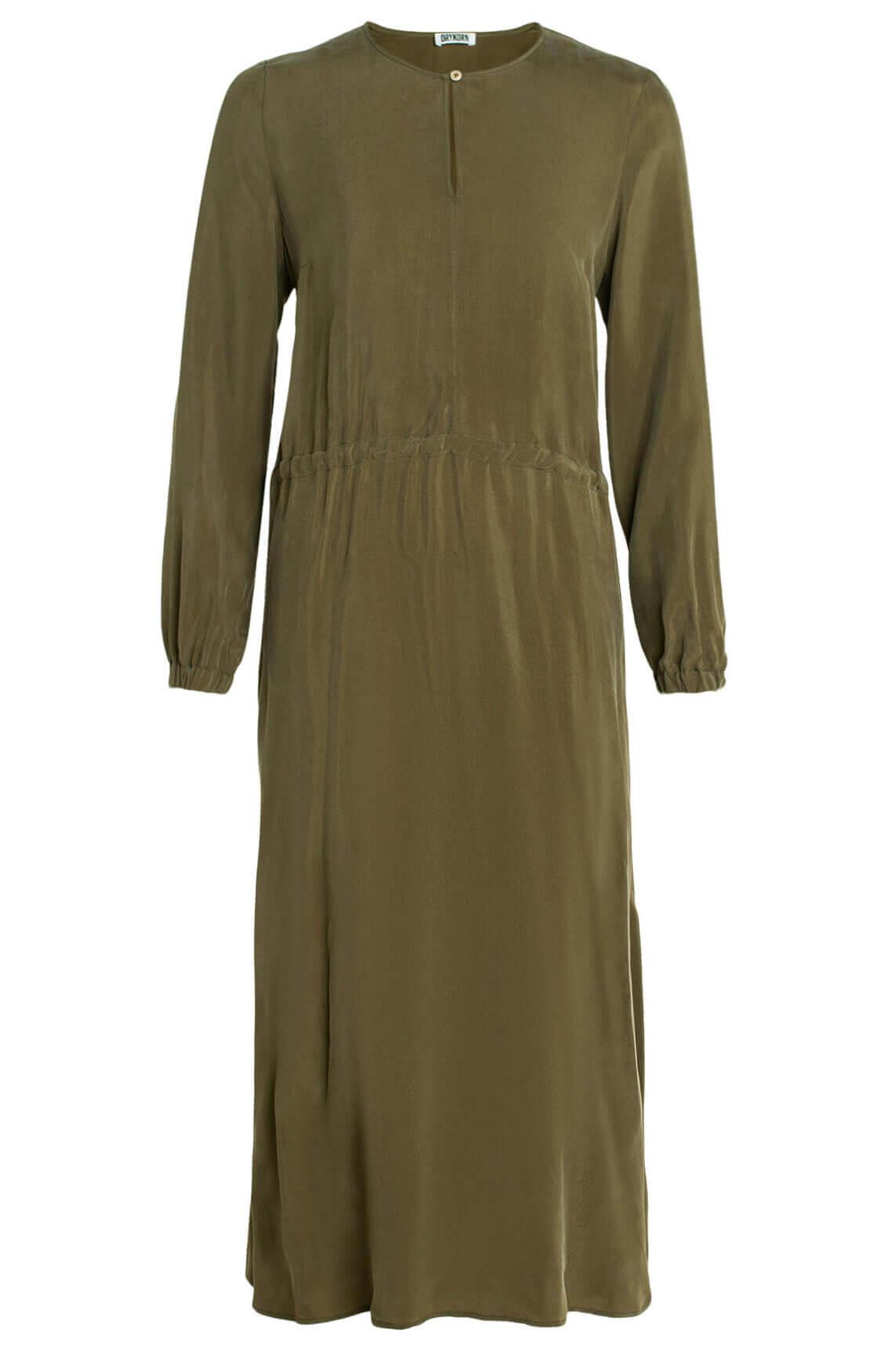 Drykorn Dames Calsey lange jurk groen