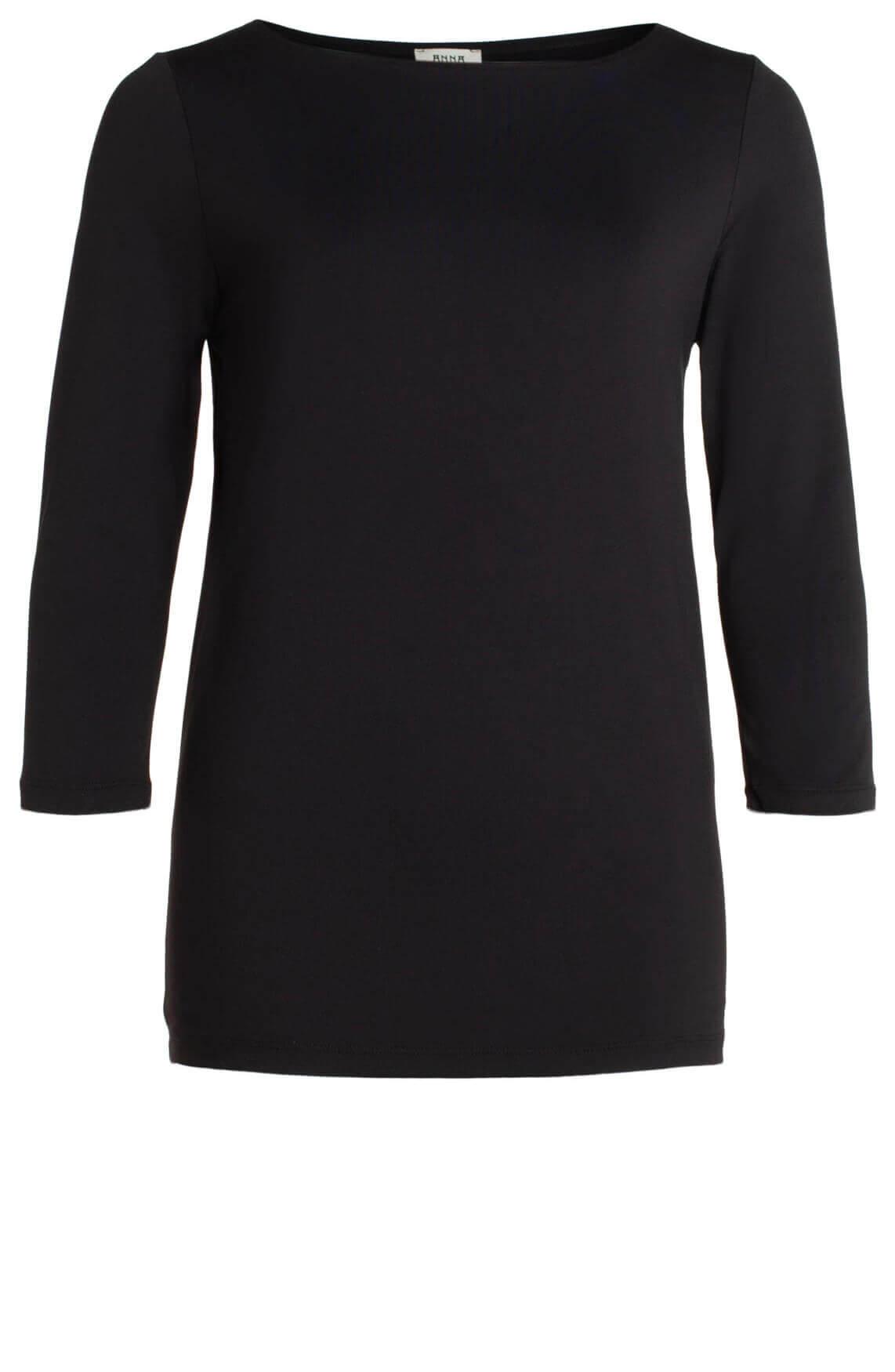 Anna Dames Seamless shirt zwart
