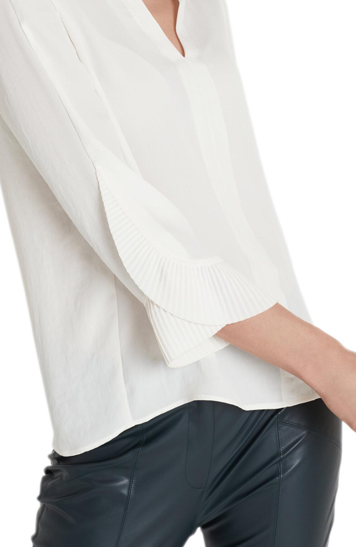 Marccain Dames Blouse met plissé plooien wit