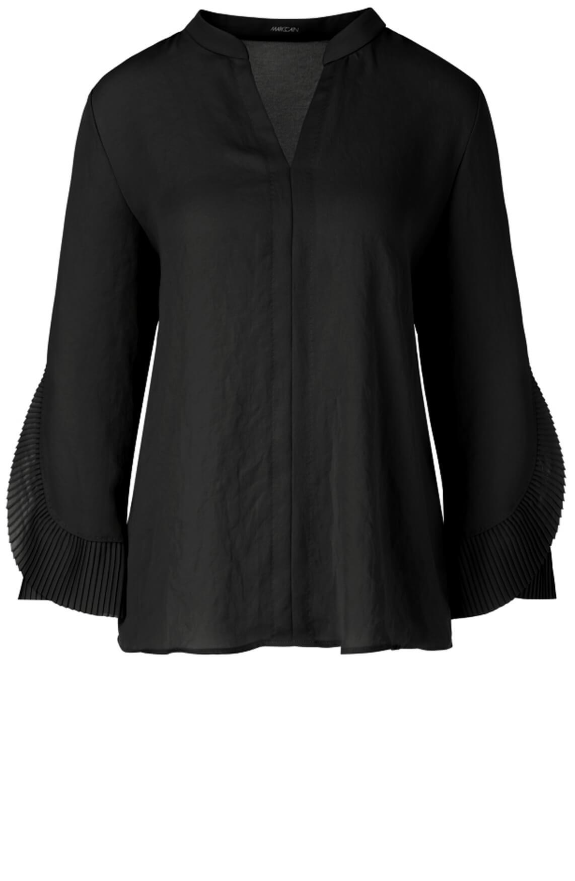 Marccain Dames Blouse met plissé plooien zwart