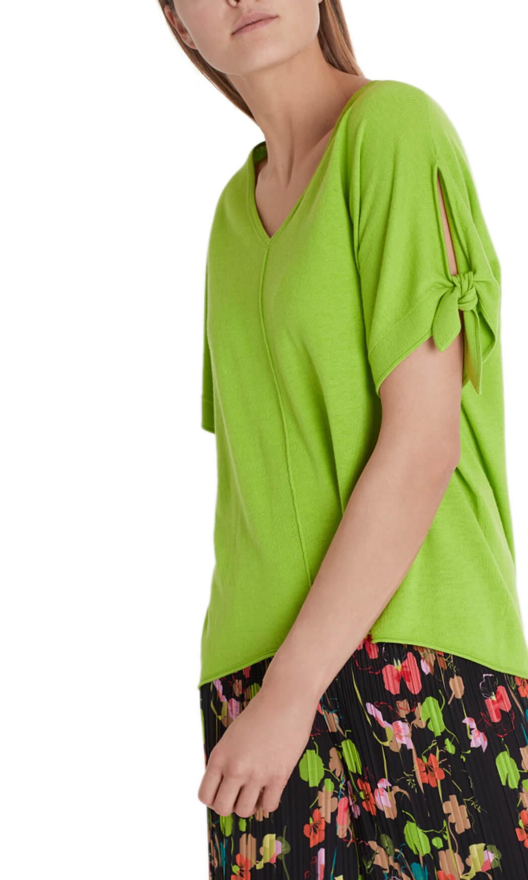 Marccain Dames Zijde en cashmere trui groen