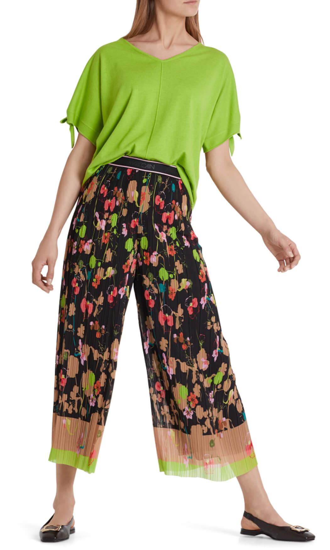Marccain Dames Plissé pantalon groen
