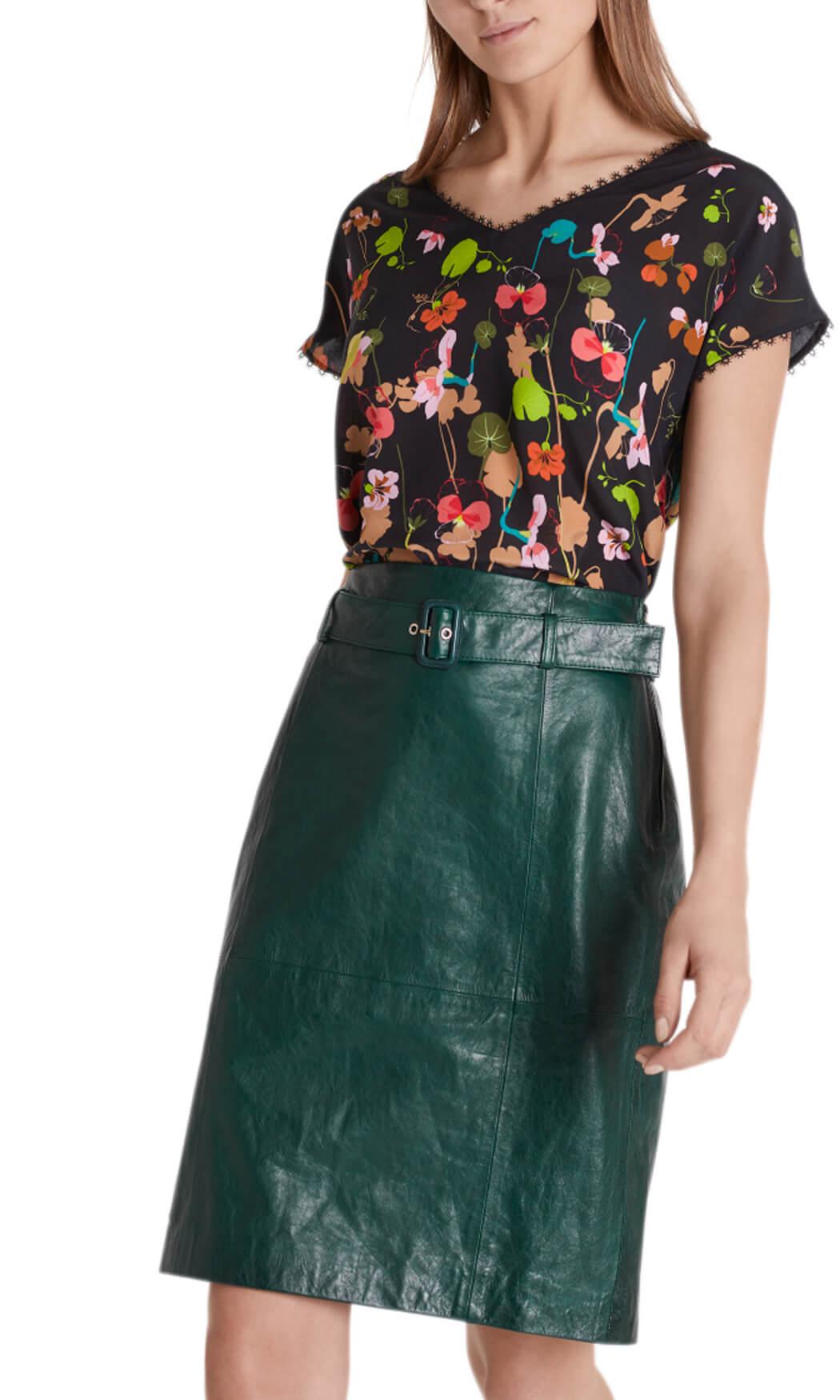 Marccain Dames Zijde blouseshirt groen