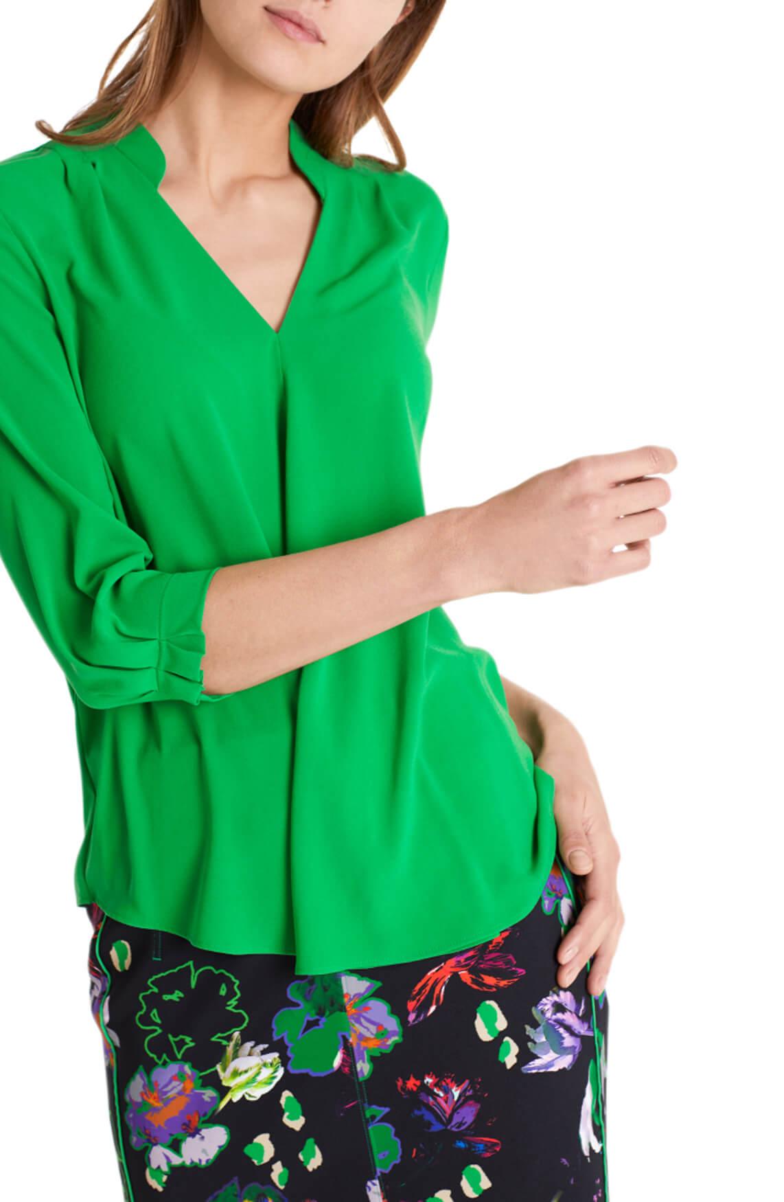 Marccain Dames Geplooide blouse groen