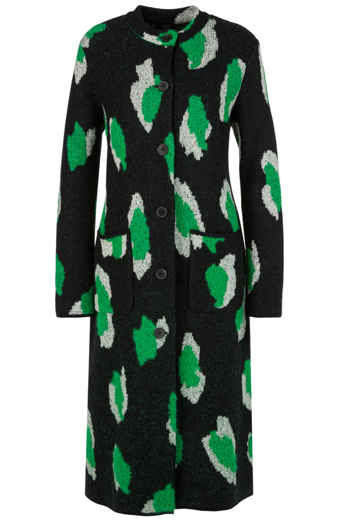 Marccain Dames Gebreid vest groen