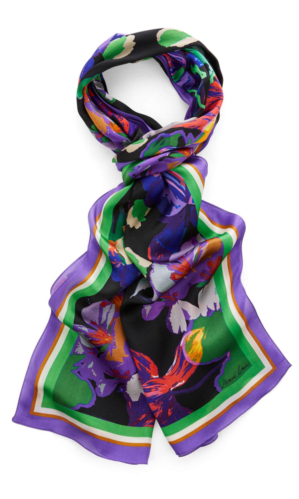 Marccain Dames Zijden shawl Paars