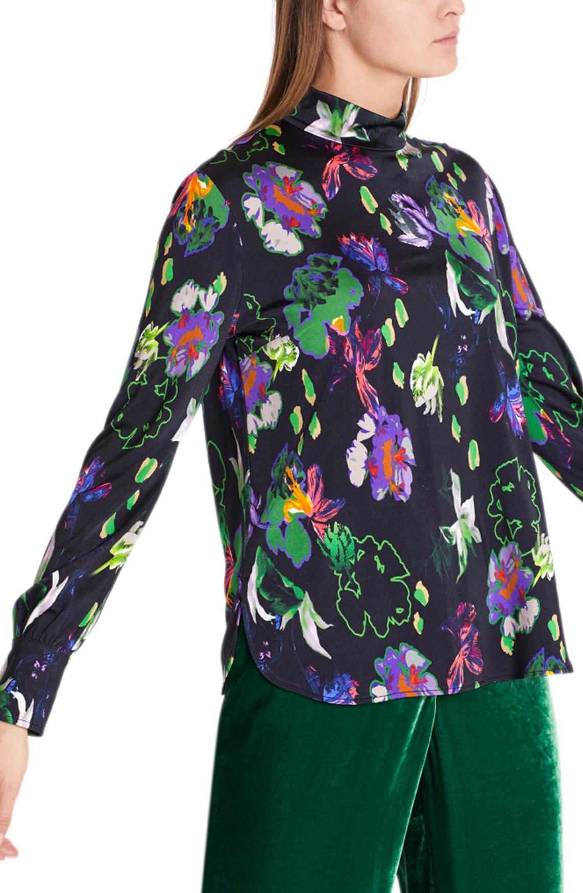 Marccain Dames Gebloemde blouse zwart