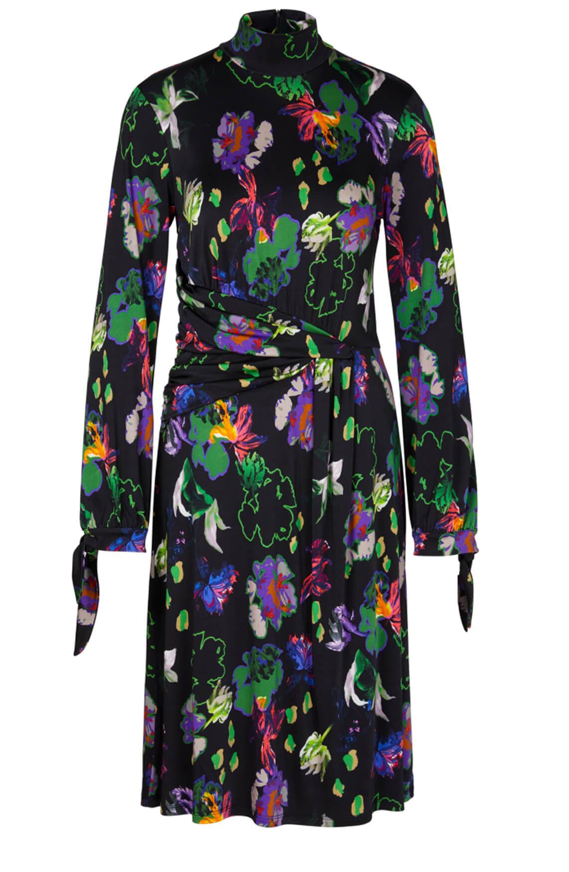 Marccain Dames Gebloemde jurk zwart