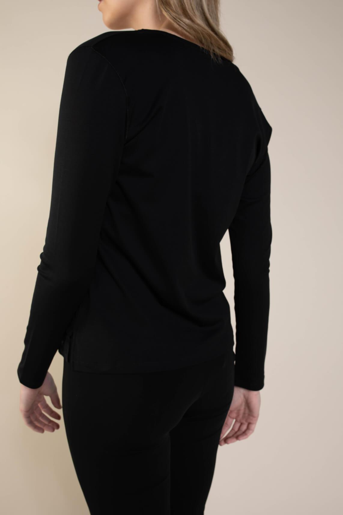 Marccain Dames Shirt met zijde zwart