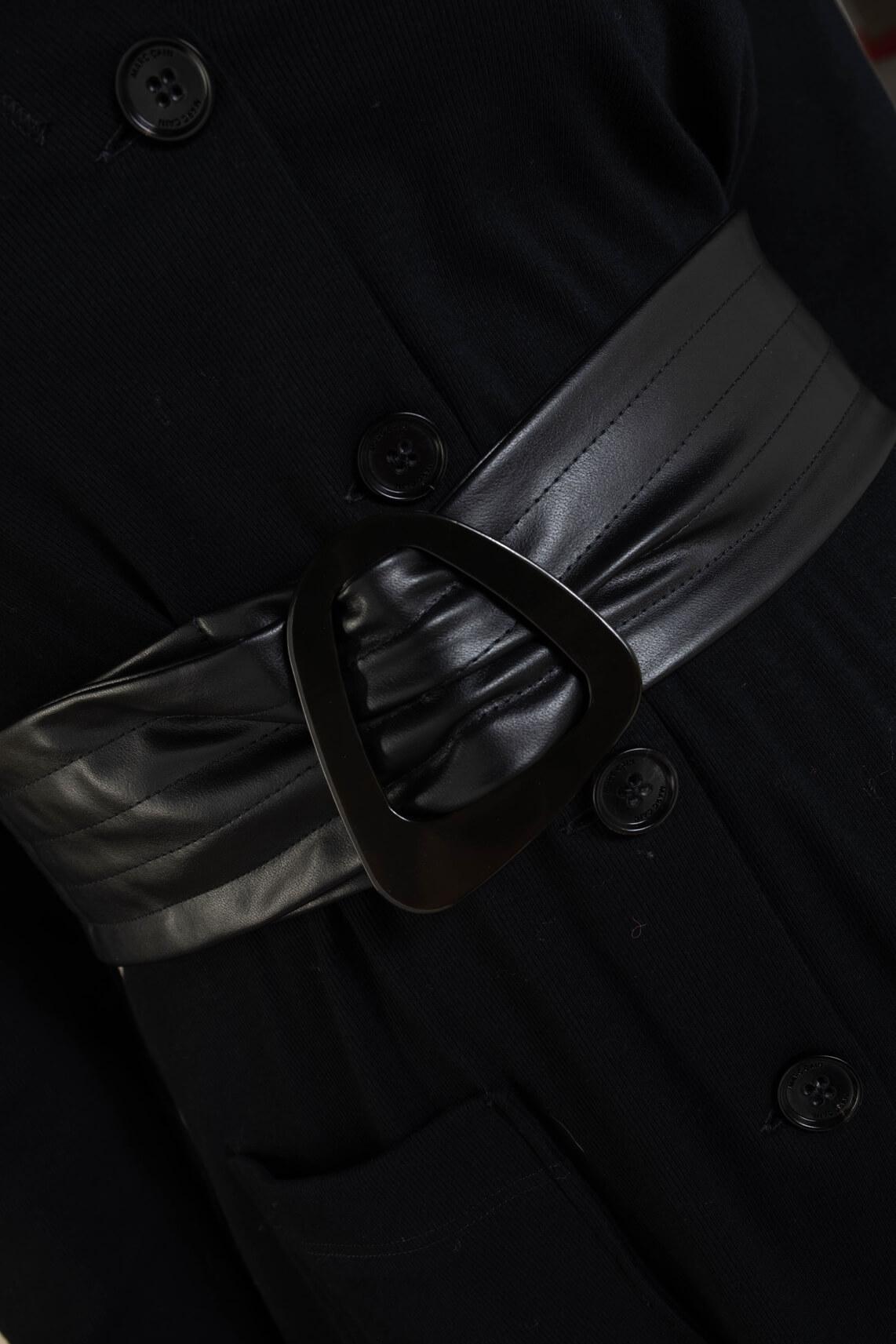 Marccain Dames Tailleceintuur van imitatieleer zwart