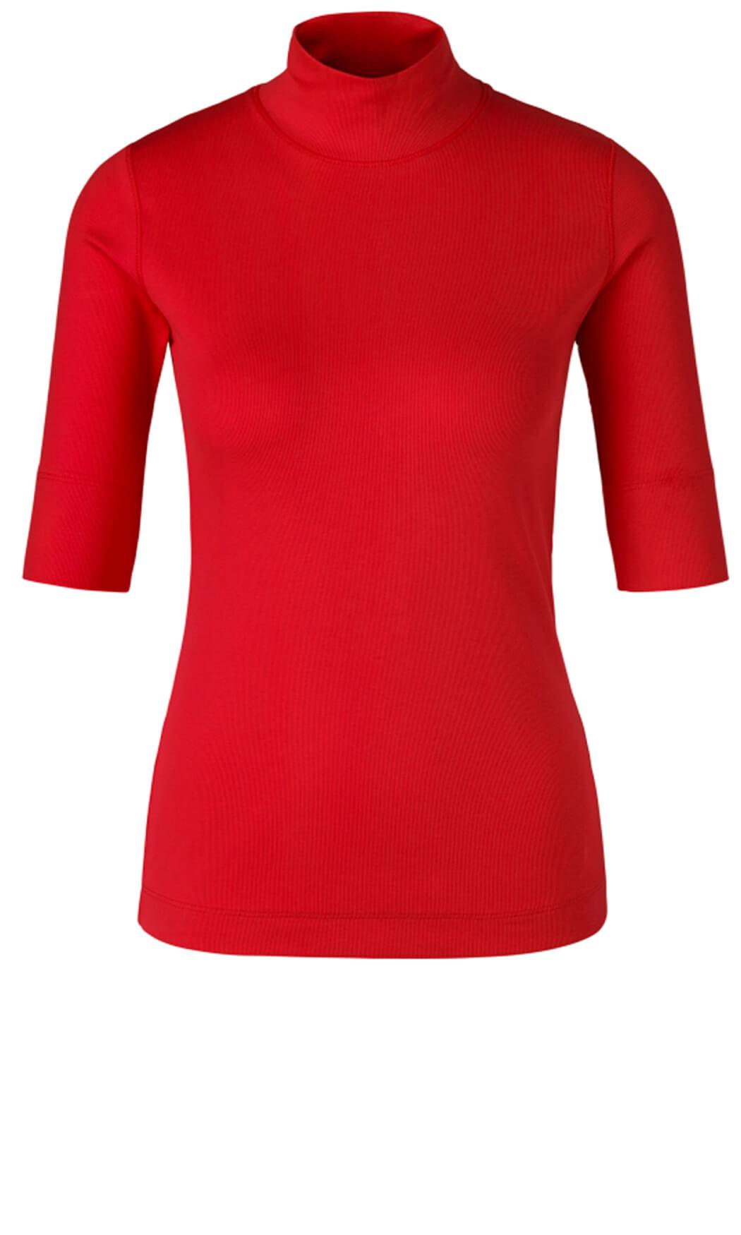 Marccain Sports Dames Shirt met colkraag Rood