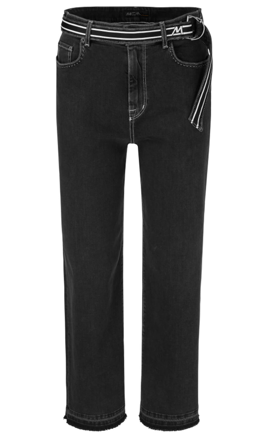 Marccain Sports Dames Jeans met tailleband Grijs