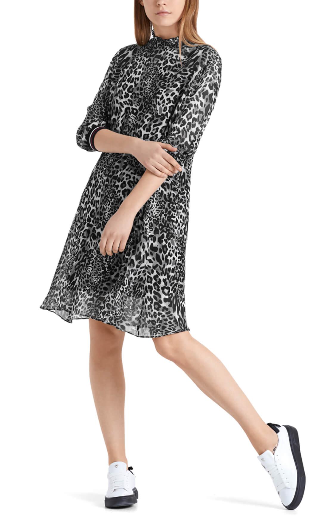 Marccain Sports Dames Luipaard jurk Grijs