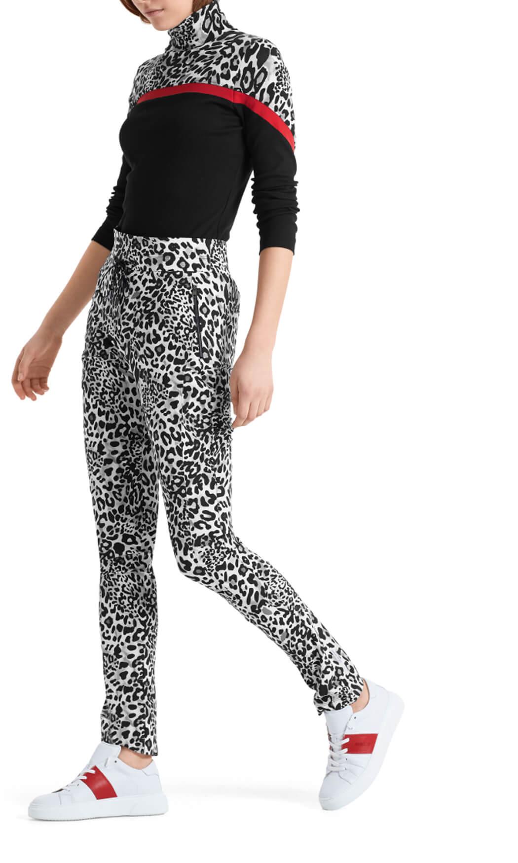 Marccain Sports Dames Luipaard pantalon Grijs