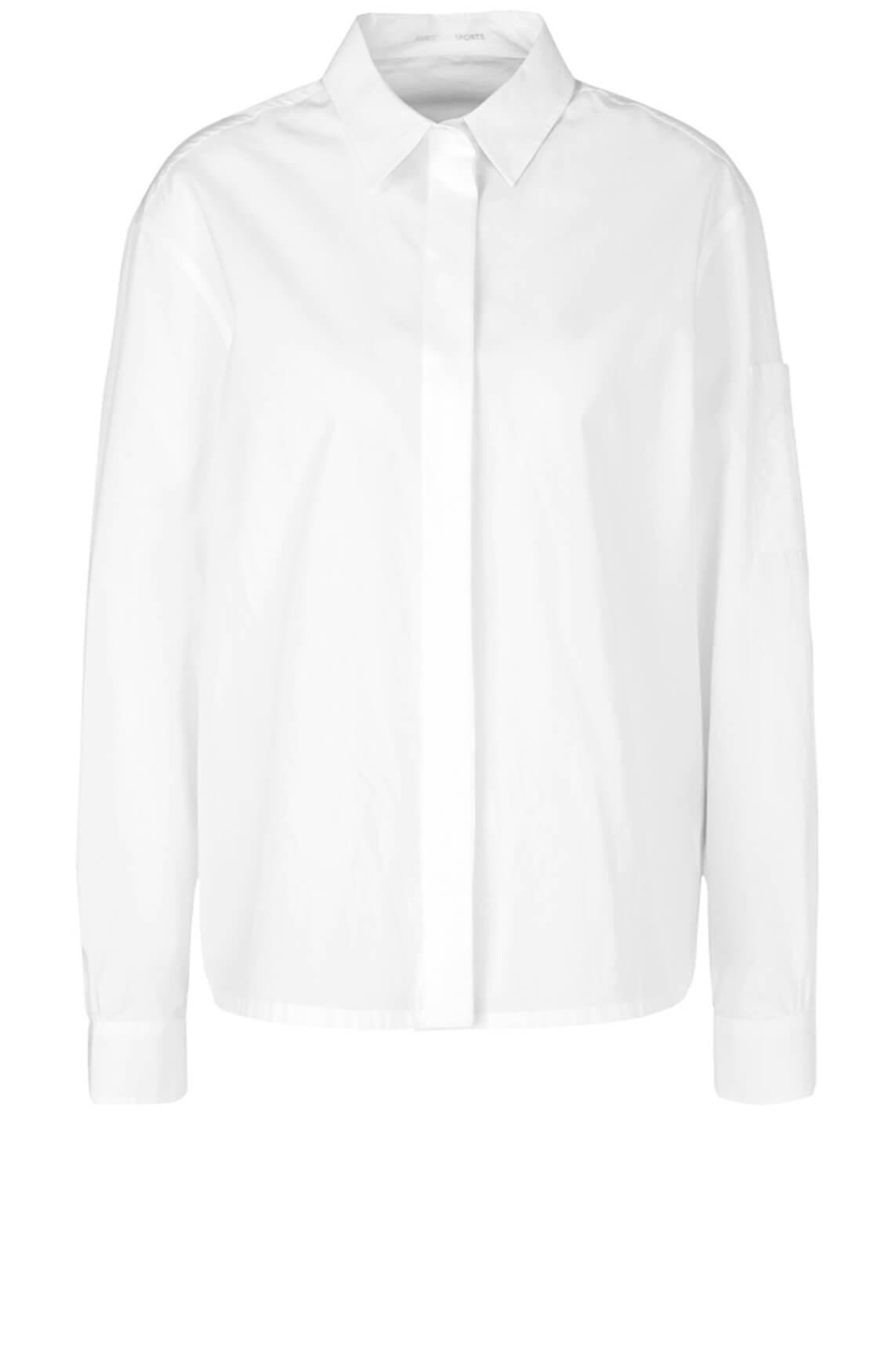 Marccain Sports Dames Blouse met tunnelkoord wit