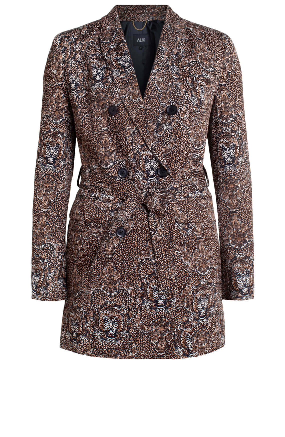 Alix The Label Dames Animal blazer Bruin