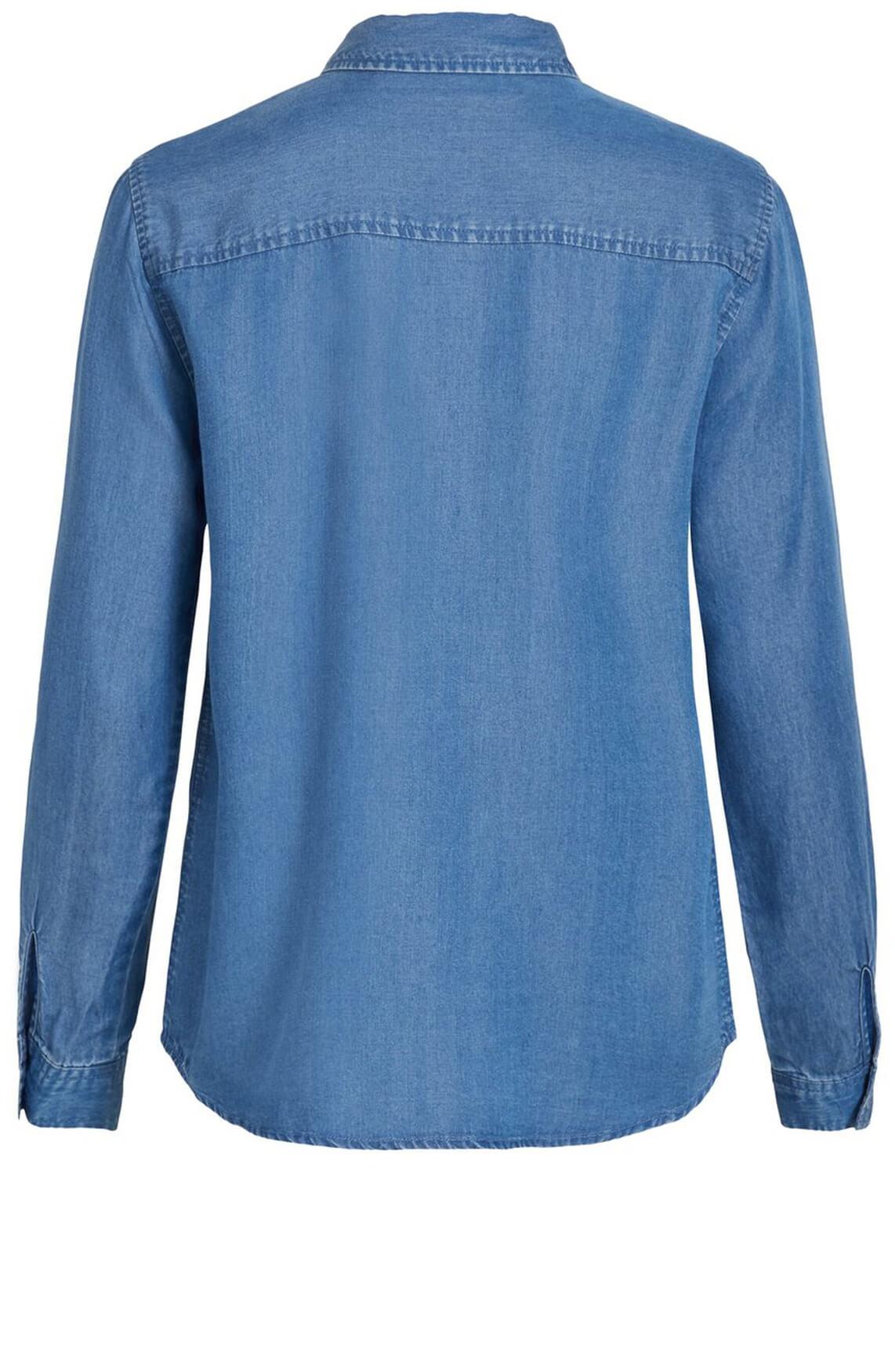Object Dames Spijkerblouse Blauw