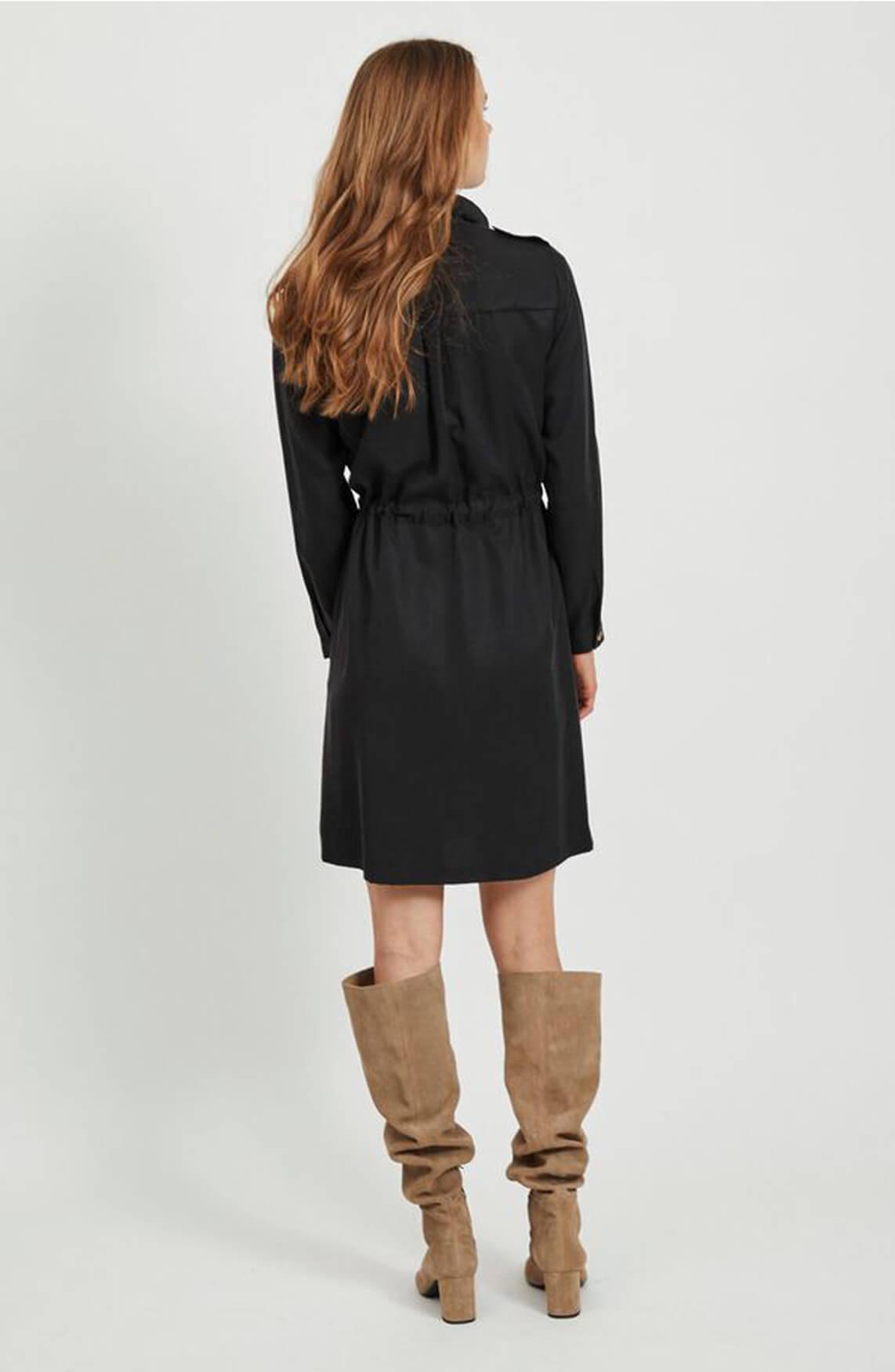 Object Dames Eileen blousejurk zwart