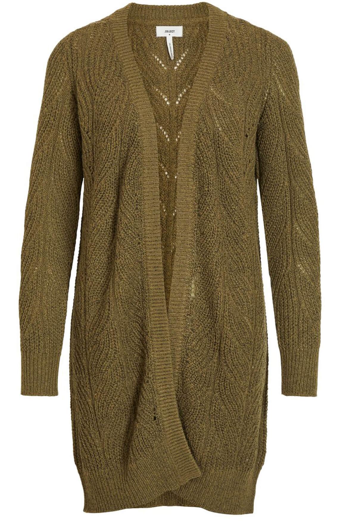 Object Dames Gestructureerd vest groen