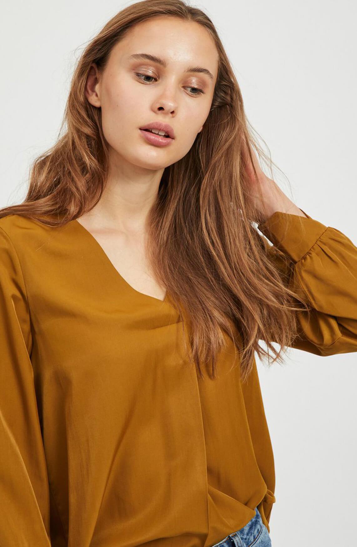 Object Dames Eileen blouse Bruin