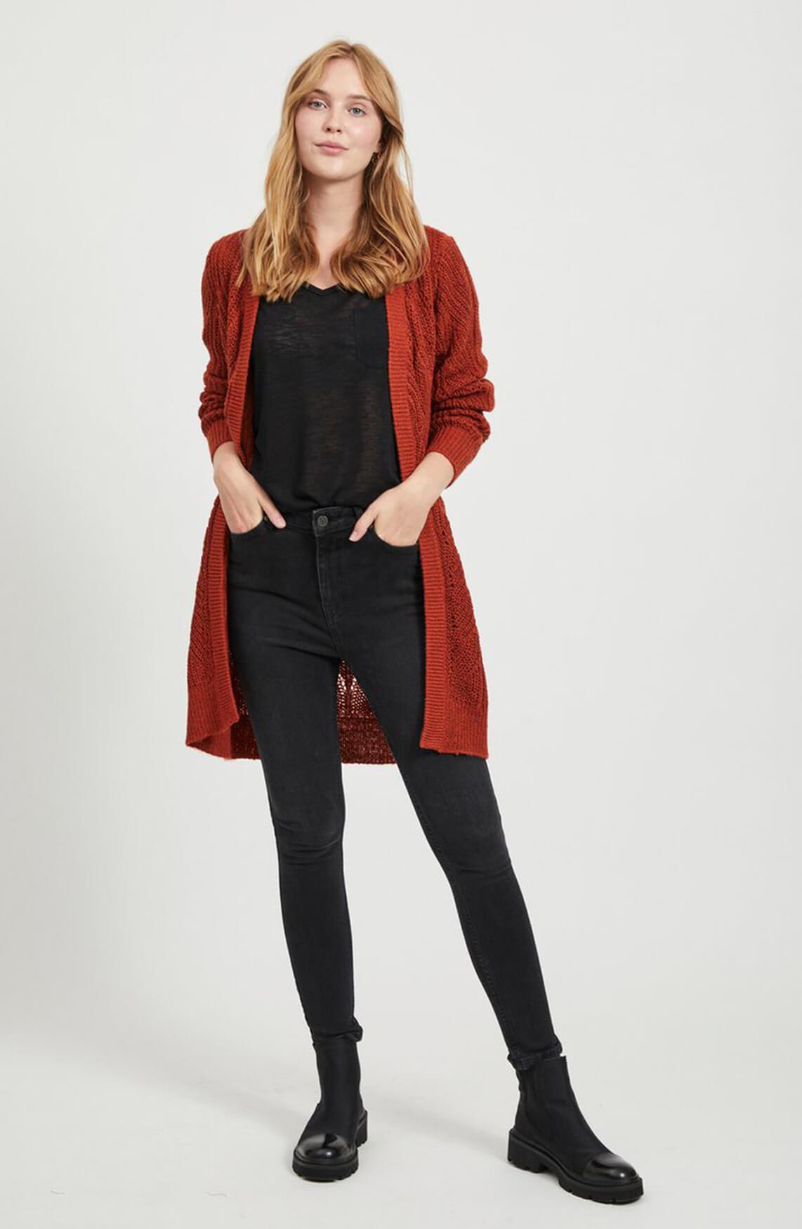Object Dames Gestructureerd vest Rood