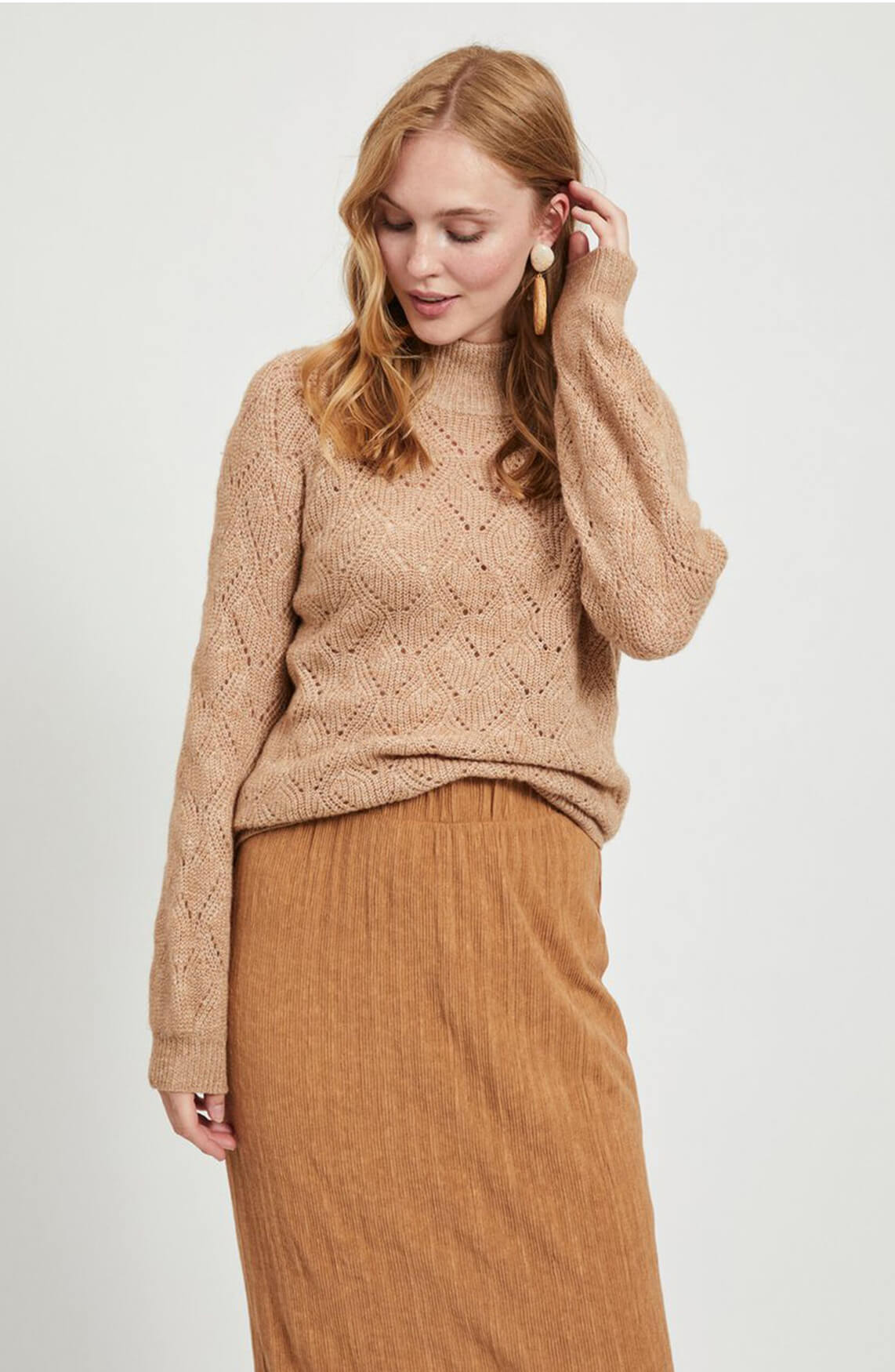 Object Dames Claire pullover Bruin