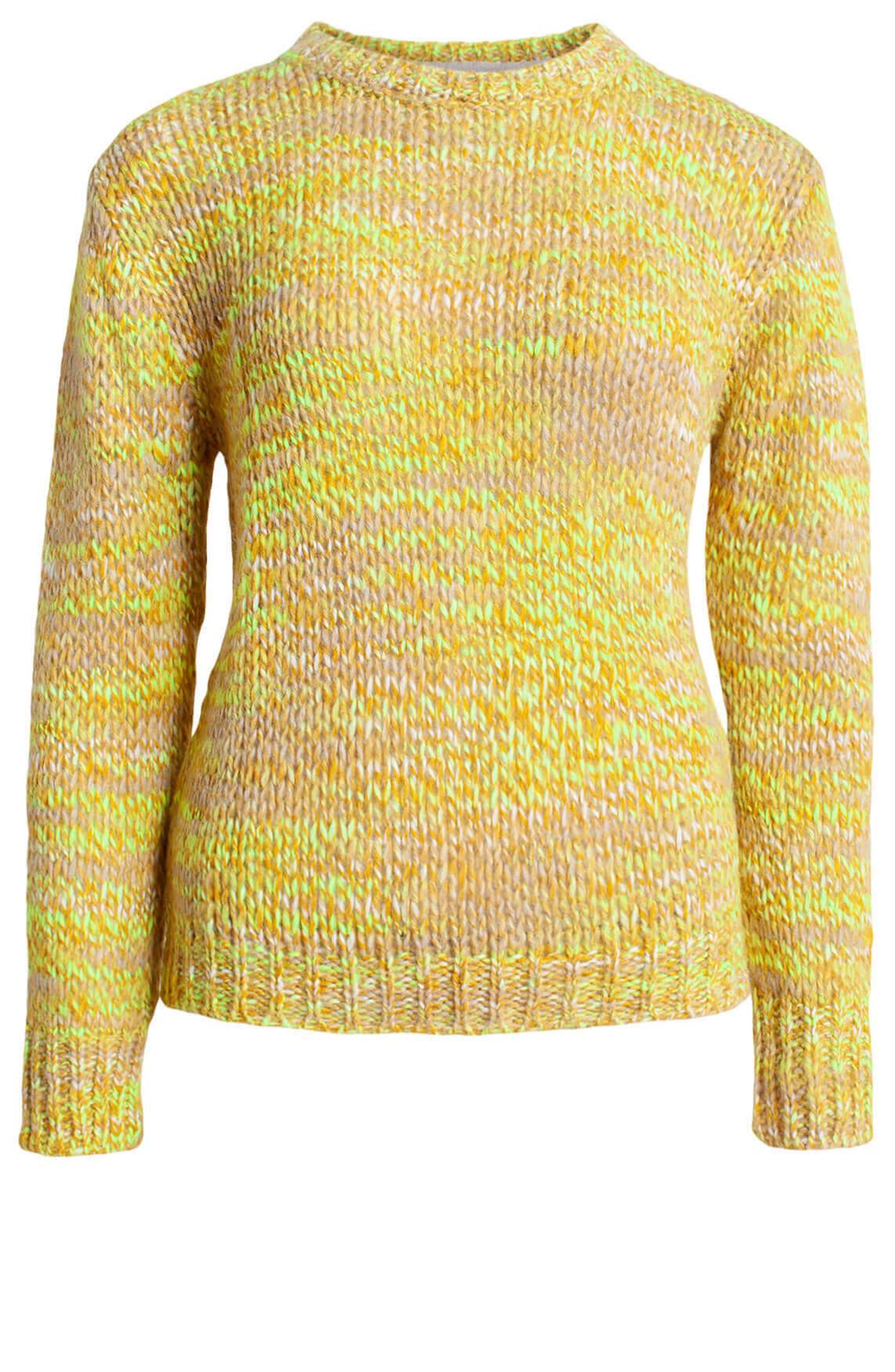 Anna Blue Dames Gebreide pullover geel