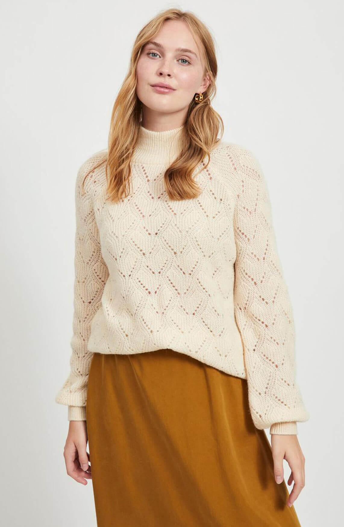 Object Dames Claire pullover Ecru