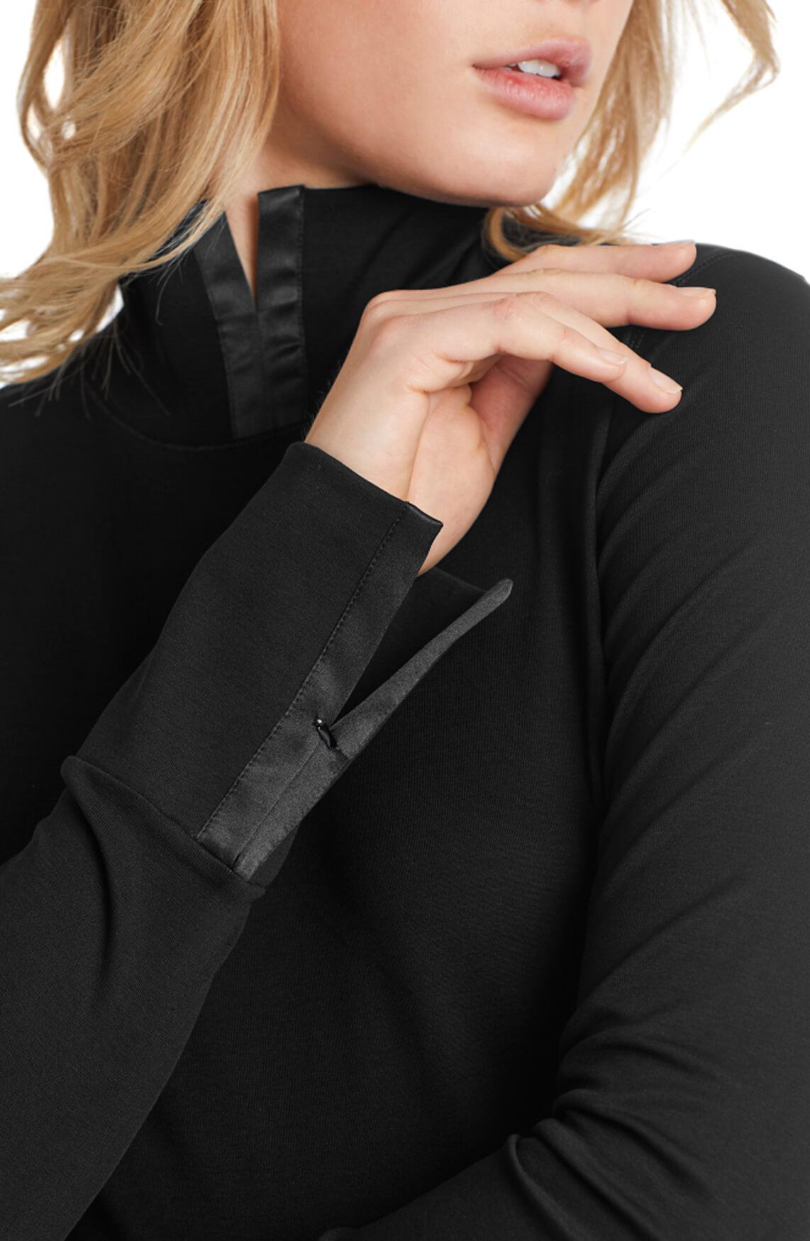 Marccain Dames Shirt met zijden details zwart