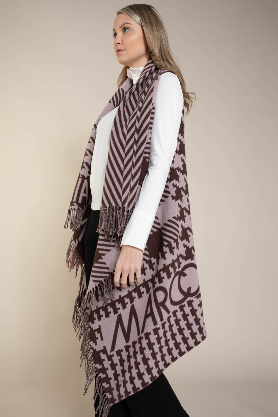 Marccain Dames Cape van wolmix Paars