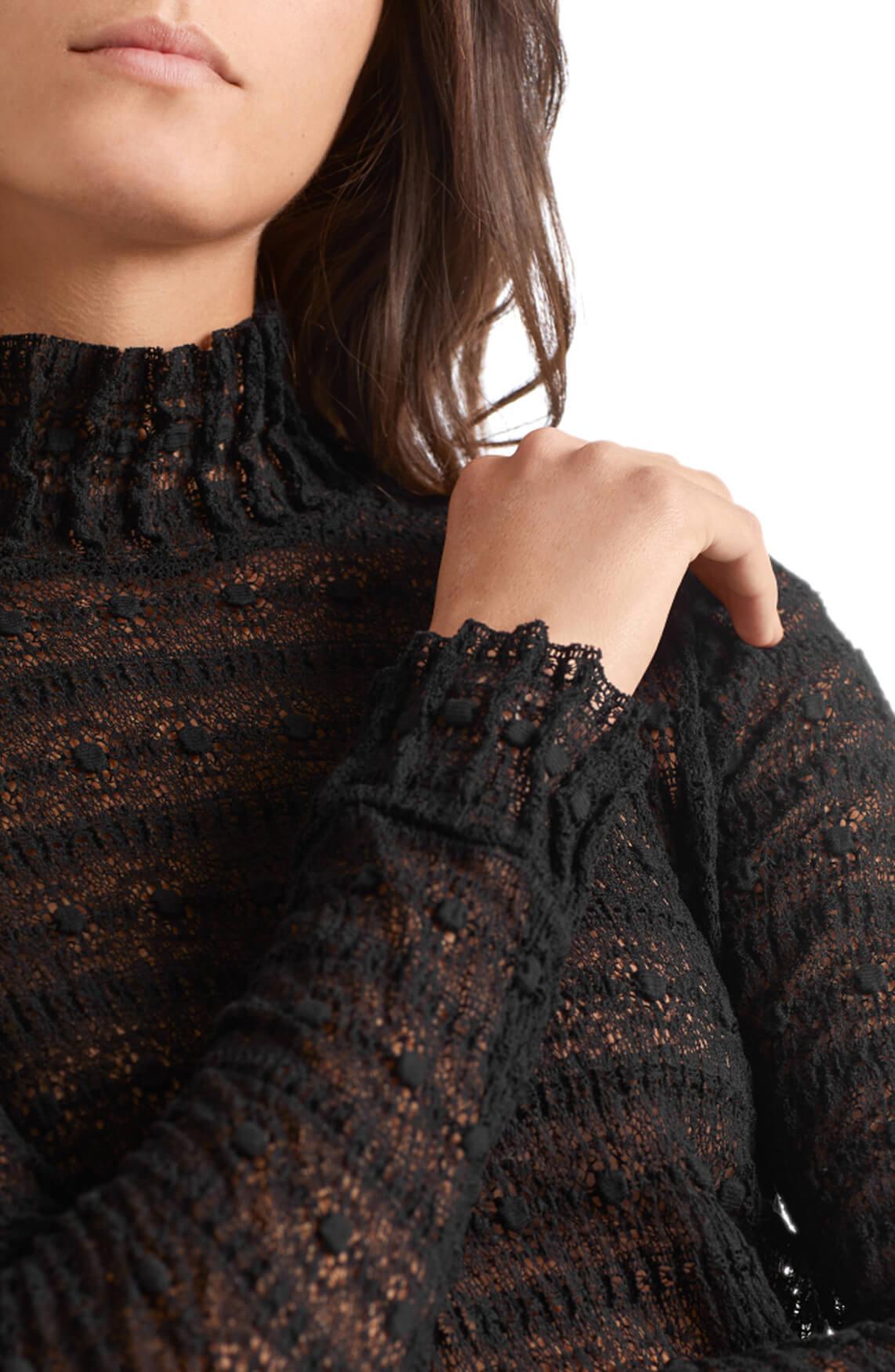 Marccain Dames Kanten blouse zwart