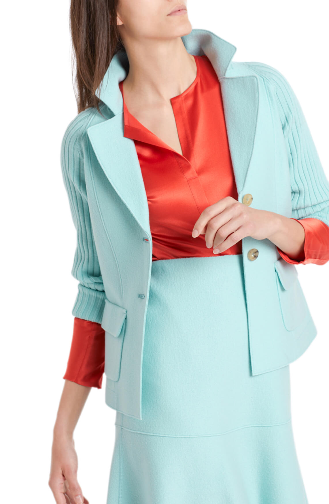 Marccain Dames Wollen blazer Blauw